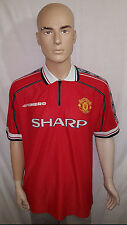 1998/99-1999/00 Manchester United Home Shirt: Size XL = 112 CMS (Rare, Vintage)