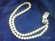Perlencollier soft pink 6mm Silberverschluss, Händler- + Juwelierzertifikat, NEU