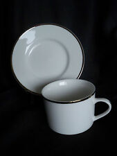 Farberware Elegance Gold 4533 Cup & Saucer White Gold Trim China