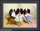 English Print Cavalier King Charles Spaniel Dog Dogs Puppy Puppies Art Poster