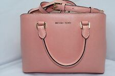 NEW Michael Kors Savannah Satchel Shoulder Bag Peach Tote Leather NWT