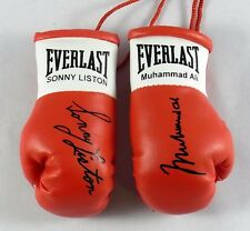Autographed Mini Boxing Gloves Muhammad Ali v Sonny Liston