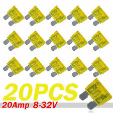 20pcs 20A Color Coded Standard ATO/ATC Blade Fuse Fit For Auto Car Truck