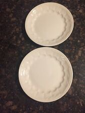 Royal Crownford Ironstone Weatherby Hanley White Wheat Set of 2 Plates