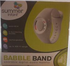 Summer Infant Babble Band Wearable Digital Audio Baby Monitor Range up to 600 Ft