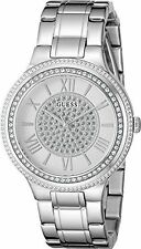 GUESS U0637L1 Silver Swarovski Crystal Stainless Steel Women's Watch NEW**
