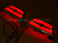 Led Light passenger footboard floorboard cover For Harley Touring Trike Softail