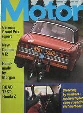 Motor magazine 5/8/1972 featuring Honda Z Coupe, Broadspeed Lotus Elan Sprint