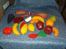 ksm. Pretend Play Plastic Kitchen Fruit Meat  Grapes are about 3 1/2 Inch Long