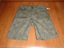 New Mens Size 29 29W Old Navy Green On Green Print Shorts Above Knee Cotton @@