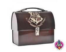 OFFICIAL HARRY POTTER HOGWARTS CREST METAL DOMED LUNCH TIN TOTE BOX NEW