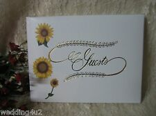 Wedding Party ~Sunflower~ Bed Breakfast Lodge Guest Book Any Event