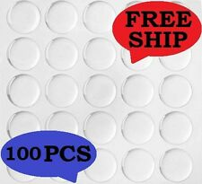"(100)  25.4mm 1"" Clear EPOXY Circle Bottle cap Domes Stickers Dot Crafting DIY"