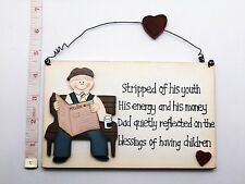 Stripped of youth Wall Plaque Gift Ideas for Dad Him Grandad Farthers day