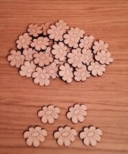 20 X wooden flower 3 Mm Thick Mdf Craft Shape Blank