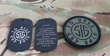 SIG Warrior inSIGnia™ set: Pin & Subdued Commando Patch & Rune Tag Amulet limite