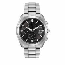 Citizen Eco-Drive Men's CA0020-56E Titanium Chronograph Bracelet 43mm Watch