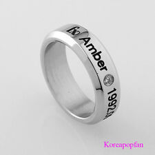 F(x) Amber STAINLESS STEEL RING NEW FREE SHIPPING