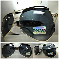Men's or Womens OVERSIZE VINTAGE RETRO Style SUN GLASSES Unique Large Gold Frame