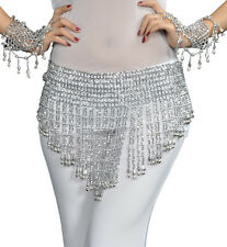 """HOT"" New Belly Dance Costume Hip Scarf Bead&Bell Belt  2 Color Gold / Silver"