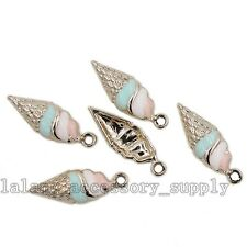 10pcs Lots Gold Plated&Enamel Zinc Alloy Conch Charms Pendants Findings Crafts L