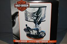 "18"" Harley Davidson Soft Tail Heritage Desk Table Motorcycle Lamp w/ Night Light"