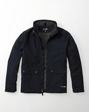 NWT Abercrombie & Fitch Mens Navy Thermo Peak Jacket Coat ~ L