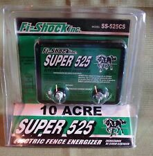 Fi-Shock 10-Acre Super 525 Electric Fence Energizer, New in Pkg