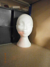 New Unused Female Polysterene Head - Shop Display Clothes Jewellery