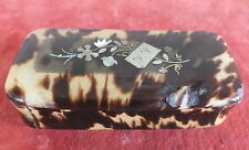 tabatiere ancienne incrustations argent nacre boite tabac snuffbox