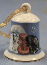 Poodle pudel Porzellan glocke figur porzellan weihnachtsglocke 117