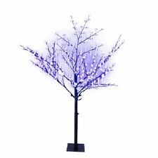 (1)HOLIDAY WONDERLAND 6' BLUE CHERRY BLOSSOM TREE 336 BLUE LED LIGHTS XDHK32532A