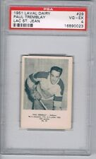 1951 Laval Dairy Lac St. Jean Hockey Card #29 Paul Tremblay Graded PSA 4
