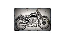 1939 ktt Bike Motorcycle A4 Retro Metal Sign Aluminium