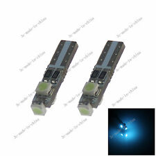 2X Ice Blue T5 3 1210 LED Canbus Error Free Plate Speed Wedge Light Bulb 20111