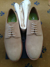 NEW OLIVER SWEENEY MENS SHOES BEIGE TAN SUEDE LACE UP OXFORDS UK 7.5 US 8.5 41.5