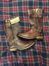 Bed Stu Cobbler Leather  Gogo Teak Driftwood Moto Double Zipper Buckle Boots 7.5
