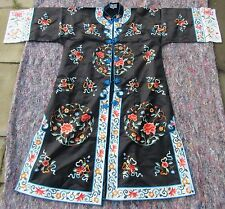 VINTAGE CHINESE SILK EMBROIDERED INFORMAL ROBE