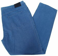 Brioni Men Pants Jeans Denim Collection Size 54 inch Blue 100% Cotton MARMOLADA