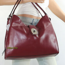 NWT Coach Carly Pebble Leather Shoulder Bag Hand Bag Hobo F37637 Bordeaux RARE