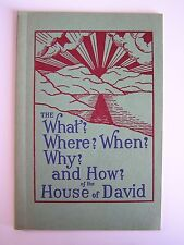 The What, Where, When, Why, and How of the House of David Vintage Booklet