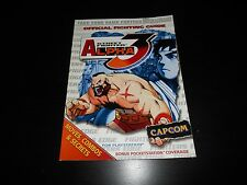 Street Fighter Alpha 3 III Official Strategy Guide Book PS1 Playstation 1 Brady