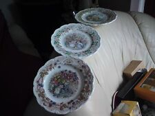 3 X BRAMBLY HEDGE SEASONS,  8 INCH PLATES, SPRING, SUMMER, AUTUMN, FREE-MAILING.
