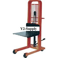 NEW! Hydraulic Stacker Lift Truck M152 1000 Lb. with Platform!!