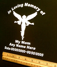 "PERSONALIZED IN LOVING MEMORY OF MY MOM, VINYL DECAL, STICKER 8"" INCH"