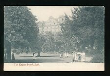 Somerset BATH Empire Hotel from park with locals 1905 PPC by Senior & Co