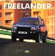 Land Rover Freelander ESX Limited Edition 2001 UK Market Brochure 1.8 V6 Td4