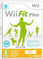WII FIT PLUS - Nintendo Wii  - BALANCE BOARD COMPATIBLE - FREE UK POST
