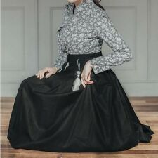 Hanbok Korean Traditional Dress clothes Linen * ONLY SKIRT ( Black ) free size