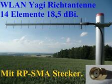 2x Booster WLAN Antenne Richtantenne Yagi 3m H155 Low Loss Kabel RP-SMA Stecker.